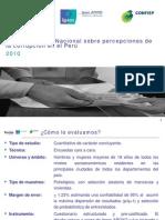 Sexta Encuesta Nacional Sobre Percepciones de la Corrupción en el Perú 2010