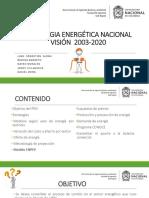Estrategia Energética Nacional 2003-2020
