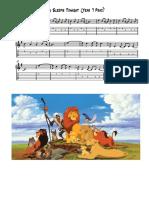 Lion Sleeps Tonight (Guitar Prac) - Full Score