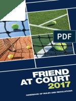 Tennis - Handbook of Rules and Regulations