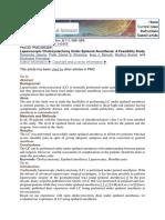 2014 Laparoscopic Cholecystectomy Under Epidural Anesthesia- A Feasibility Study