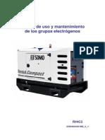 Manual y Uso Grupos Electrogenos
