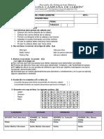 Examen Primer Quimestre Educacion Fisica