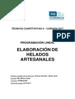 Informe Profesional- elaboración de helados artesanales