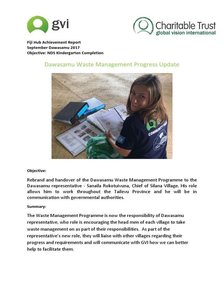 Dawasamu Waste Management Progress Update