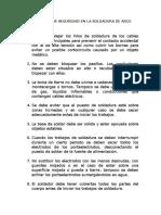 Reglas y Equipo de seguridad