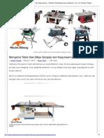 Mengenal Table Saw (Meja Gergaji) Dan Kegunaannya