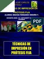 Técnicas de impresión en Protesis Fija