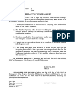 AFFIDAVIT of Guardianship (NSO Birth Certificate)