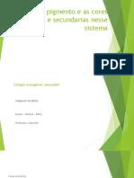 Cor Pigmento e as Cores Primarias e Secundarias