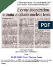 Rs 60,00,000 Crore Thorium Scam – Extended Into 2017