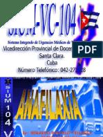 - Anafilaxia