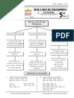 IV BIM - 5to. Año - Guía 1 - M.C.D. y M.C.M. de Polinomios