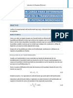 Eficiencia de Transformador Monofasico