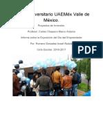 Informe Del Dia Del Emprendedor