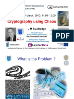 Cryptography Using Chaos