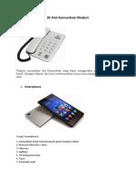 20 Alat Komunikasi Modern
