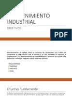 2. Objetivos Mantenimiento Industrial