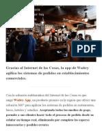 Waitry, la solución argentina para agilizar y pagar tus pedidos en restaurantes, bares y hoteles.pdf