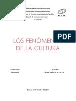 FENOMENOS CULTURALES