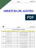 Abertura de Agenda
