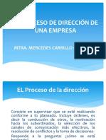 Proceso de Dirección en La Empresa