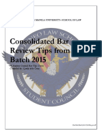 Consolidated Bar Tips, Batch 2015