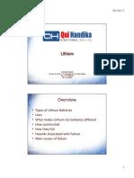 Materi Training Lithium