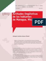 Actitudes Lingüísticas de Los Hablantes de Managua, Nicaragua