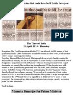 FCI Wastes Food Grains
