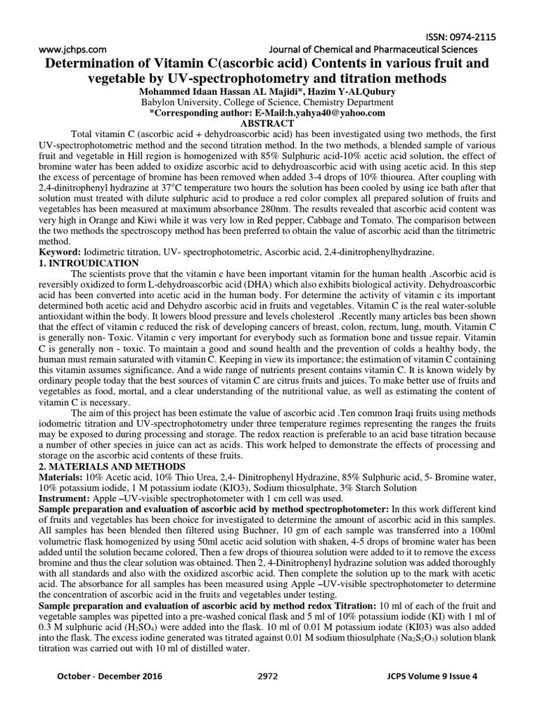 Jurnal sarahpdf vitamin c titration ccuart Images