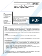 NBR 05339 PB 4 - Papel e Cartao - Tolerancias de Formatos e Gramaturas