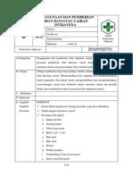 7.6.3.1 SOP Penggunaan Dan Pemberian Obat Dan Atau Cairan Intravena
