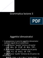 grammatica lezione 3