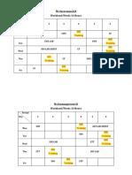 SOS Training Schedule