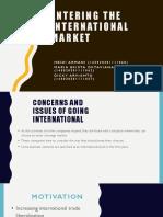 Entering the International Market
