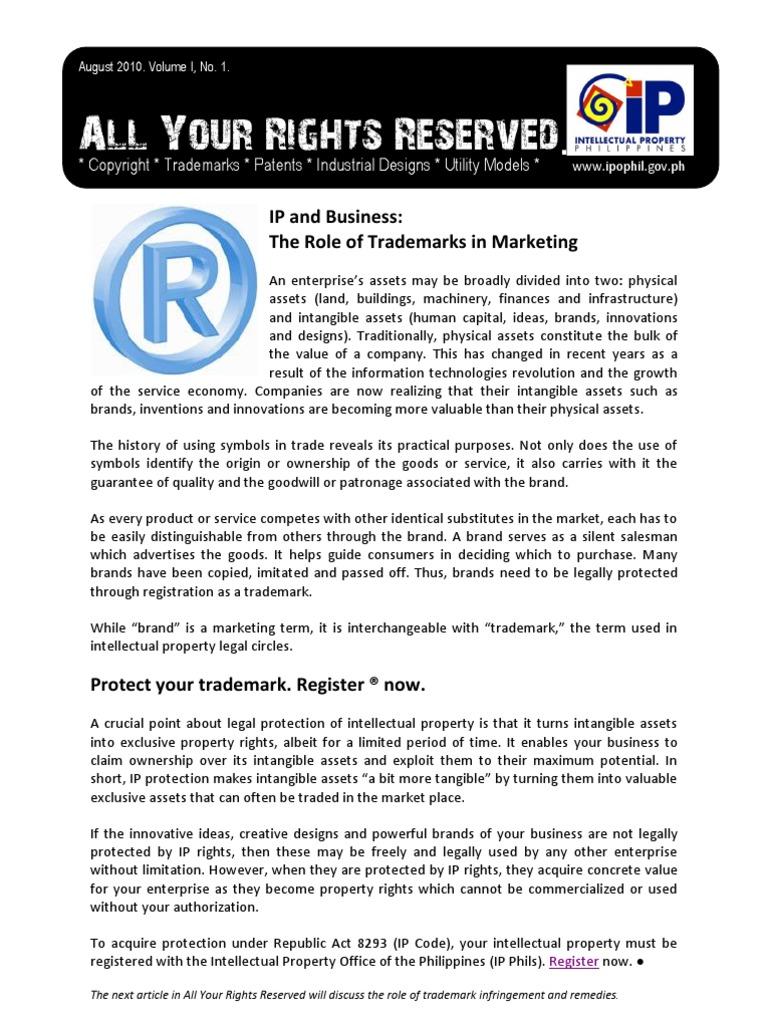 Ip Philippines Newsletter Intellectual Property Trademark