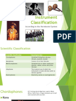 Instrument Classification for Test
