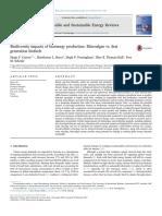 Biodiversity Impacts of Bioenergy Production Microalgae vs First