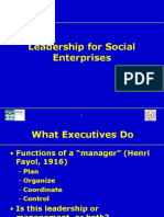 Social Enterprise Leadership