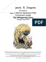 D&D 5th Ed Conversion Age of Worms the Whispering Cairn