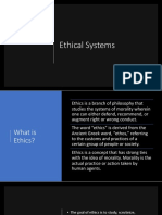 Ethical Systems Intro