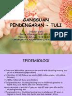 Tuli - Gangguan Pendengaran Ppt