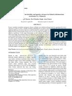Genetic variability, heritability and genetic advance in bhindi (Abelmoschus esculentus (L.) Monech)