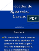 PT-Aquecedor de Água Solar Caseiro-Fidel António José