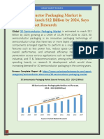 Global 3D Semiconductor Packaging Market is estimated to reach $12 Billion by 2024