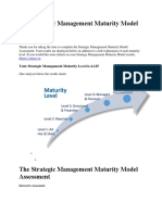 The Strategic Management Maturity Model Assessment