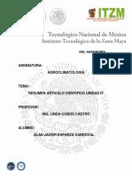Resumen de Articulo Cientifico Unidad IV Alan Esparza