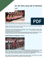 34 Macam Suku Dan Etnis Yang Ada Di Indonesia PKN