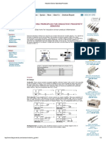Operating Principles for Inductive Proximity Sensors